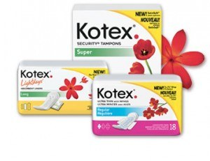 Free Sample Pack of Kotex Products
