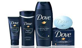 Free Sample of Dove Calming Night Body Wash and Body Lotion