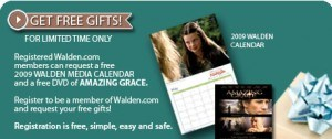 Free 2009 Walden Media Calendar and Amazing Grace DVD