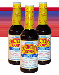 Free Bottle of Country Bob's All Purpose Sauce