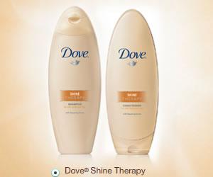 Free Sample of Dove Shine Therapy