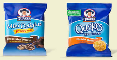 Free Samples of Quaker Mini Delights or Quakes
