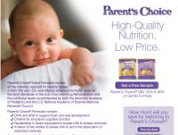 Free Sample of Parent's Choice Powdered Baby Formula