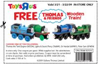 Free Thomas & Friends Wooden Train at Toys R Us