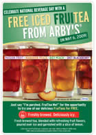 Free Iced FruiTea at Arby's- Today Only!