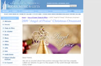 Free 2009 Angel of Praise Christmas Ornament