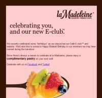 Free Pastry at La Madeleine Cafe