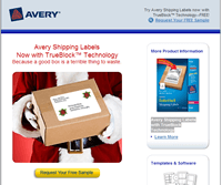 Free Sample of Avery White Shipping Labels