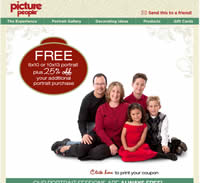 Free 8x10 or 10x13 Portrait at Picture People