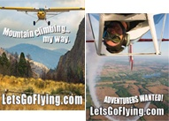 Free Let's Go Flying Decal