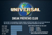 Universal Pictures Free Movie Screenings