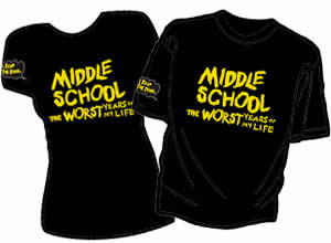 free middle school the worst years of my life t shirt i