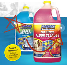 Free Proforce Glass Amp No Rinse Floor Cleaner Samples For