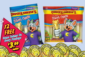 Free Game Token Offer On Every Chuck E Snack Cheeses