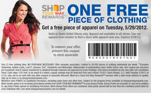 Free One Piece Of Clothing At Sears Outlet Stores I