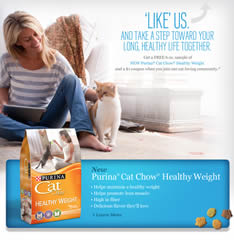purina cat chow free samples