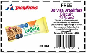 FREE Belvita Breakfast Biscuit at Thorntons