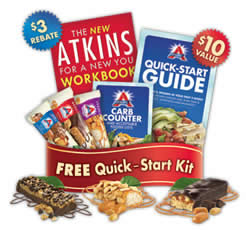 Free atkins quick start kit and 3 free atkins bars i for Atkins quick cuisine