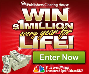 WIN $1 Million a Year for Life from Publisher's Clearing House! - I