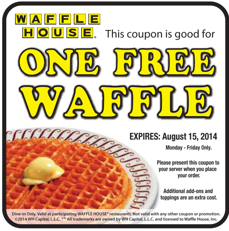 waffle house coupons really suck they make it to hard to get plus some waffle houses give 10% for disabled vets and some give 15% and there are some that .