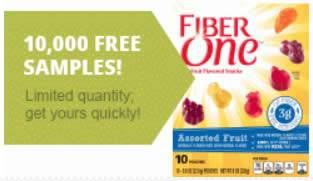 Free Fiber One Fruit Flavored Snacks Sample For Box Top