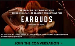 FREE Earbuds from Marlboro - I Crave Freebies