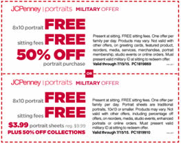 free 8x10 portrait for military at jcpenney i crave freebies