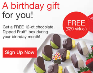 Sign Up For Edible Arrangements Rewards Program And Get A FREE 12 Ct Chocolate Dipped Fruit Box During Your Birthday Month As Member Youll Also Receive