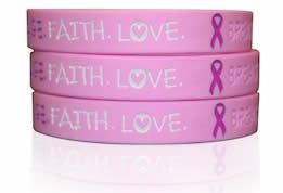 Breast cancer care wrist bands