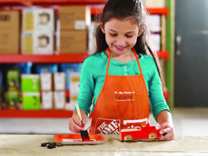 Free fire truck workshop for kids at home depot on 10 3 for Kids crafts at home depot