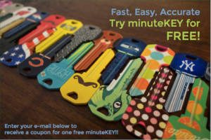 FREE Key Made at minuteKEY Kiosks