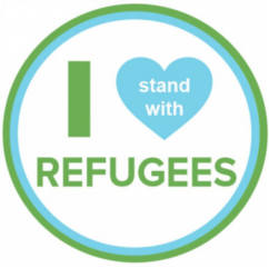 I Stand with Refugees Stickers