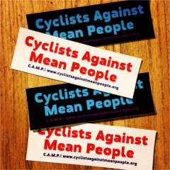 FREE Cyclists Against Mean People Sticker