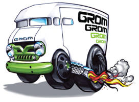 FREE GROM Apparel Stickers