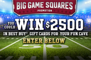 The Treasure Cave Cheese Big Game Squares Promotion