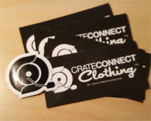 FREE Crate Connect Clothing Stickers