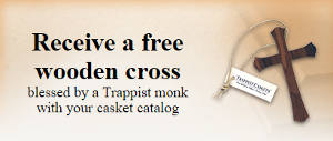 FREE Trappist Monks Blessed Wooden Cross