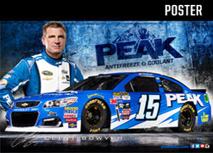 FREE Clint Bowyer PEAK#15 Race Car Poster