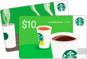 FREE $10 Starbucks Gift Card