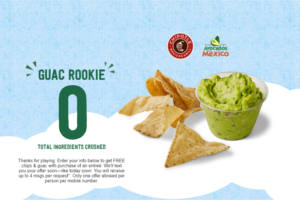 FREE Chips and Guacamole at Chipotle