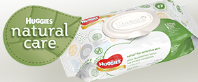Huggies Natural Care Wipes Chat Pack