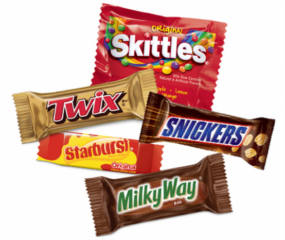 Snickers, Skittles, Starburst and Milky Way Samples