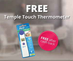 FREE ReliOn Temple Touch Thermometer