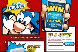 Cap'n Crunch Be a Captain Instant-Win Game