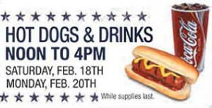 FREE Hot Dogs and Drinks