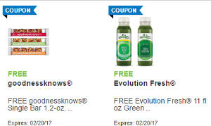 Goodnessknows Snack Single Bar and Evolution Fresh Green Juice