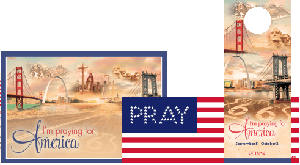 Pray American Flag Sticker