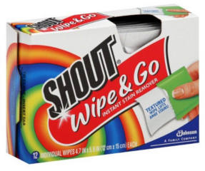 Shout Wipe & Go Travel Size Wipes