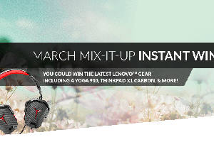 Lenovo March Mix-It-Up Instant Win