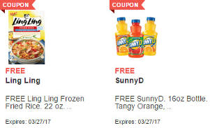 Ling Ling Frozen Fried Rice and SunnyD